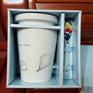 花蓮熱氣球紀念杯(白色)