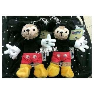 現貨在台♡香港迪士尼 Duffy 達菲 米奇造型娃娃吊飾 鑰匙圈