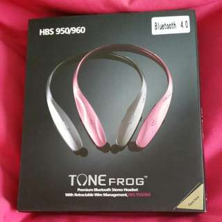 (BNIB) Premium Bluetooth Stereo Headset With Retractable Wire Management