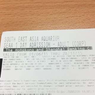 S.E.A Aquarium Ticket Valid Until 28/11/15