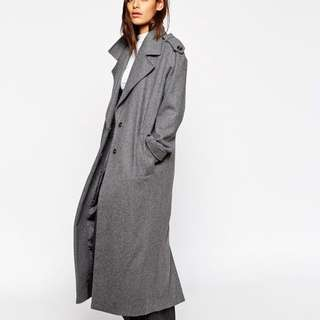ASOS Coat With Military Detail In Maxi Length