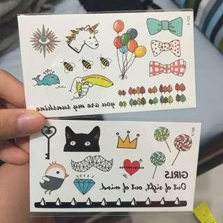 可愛紋身貼紙