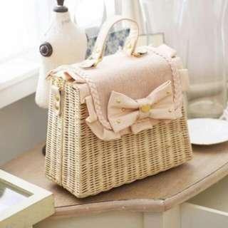 500💟轉售🐰全新未使用☕露比午茶編織包