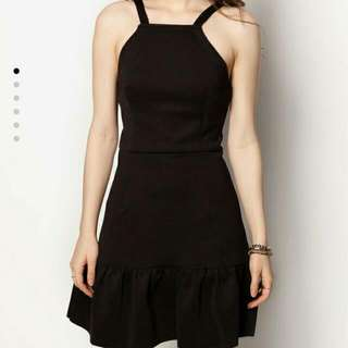 Cut In Fluted Hem Dress(Brand New)
