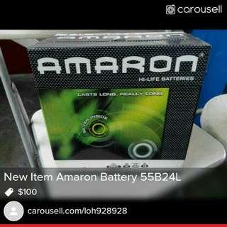 Amaron Battery 55B24L New Item