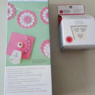 Brand New Martha Stewart Corner Edge Punch With Heart Cartridge