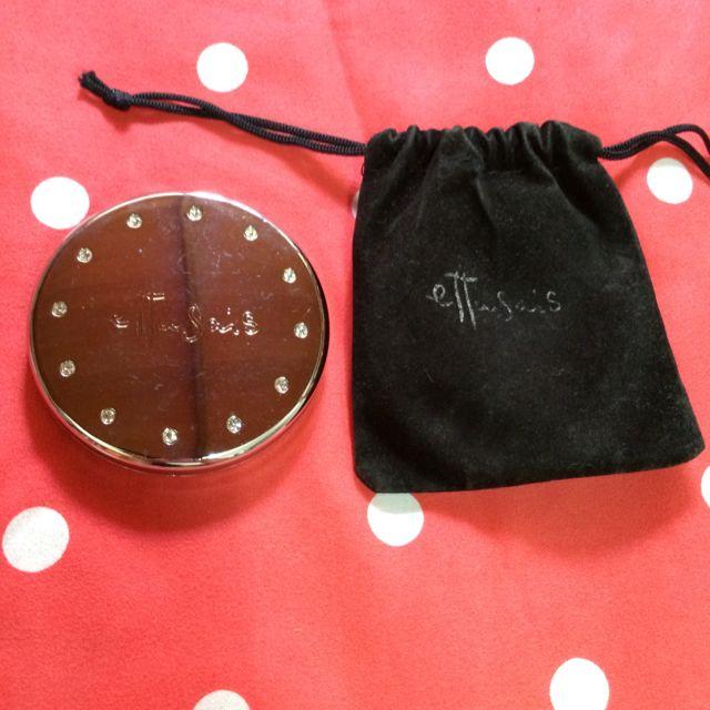 (2手)愛杜紗雙面隨身鏡-附防塵袋