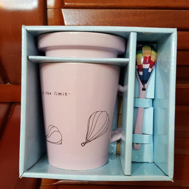 花蓮熱氣球紀念杯(粉色)
