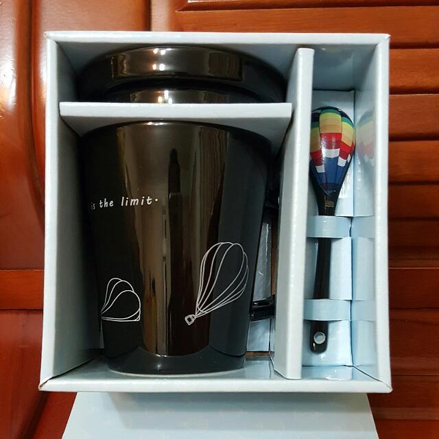 花蓮熱氣球紀念杯(黑色)