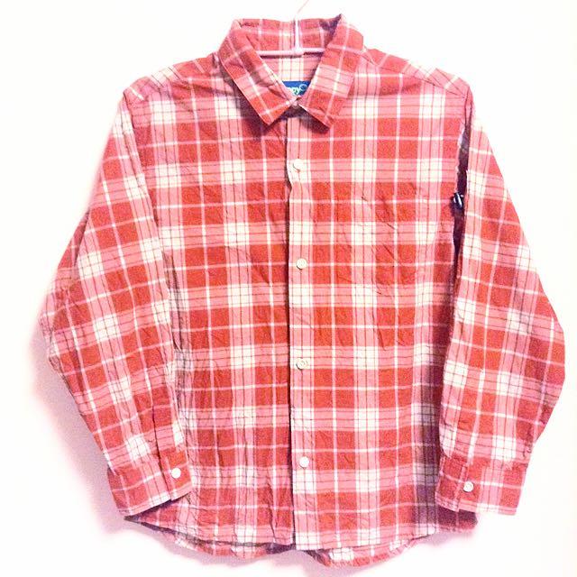 全新美復古紅襯衫