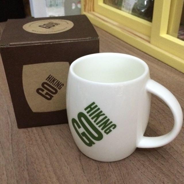 [全新]GO HIKING休閒運動品牌限量馬克杯(綠)
