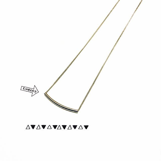 銀色彎管鎖骨鍊