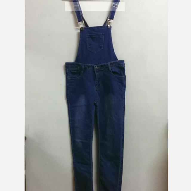 【全新】可拆式長吊帶褲
