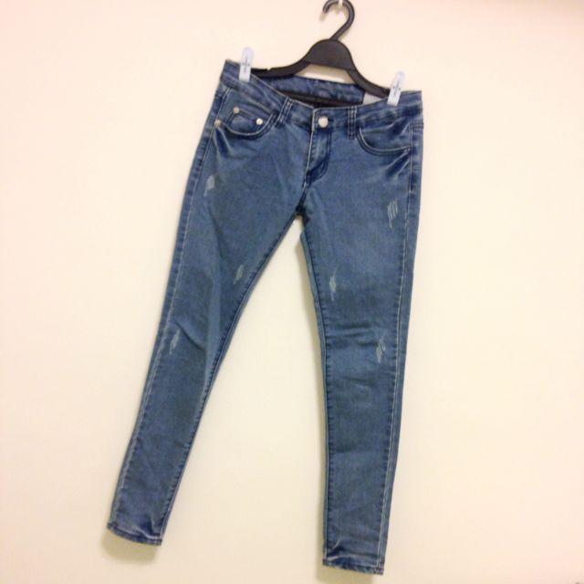 全新 M號刷色牛仔褲