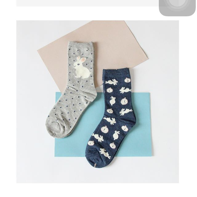 全新 韓國 東大門 造型 襪子 兔子