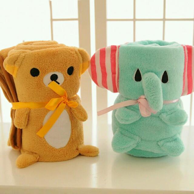 卡通 迪士尼 大象 熊大 Kitty 美樂蒂多款 夢幻新款 功能秋冬毯卡通空調毯 學生 情侶 禮物
