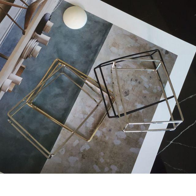 ◆Hasna◆歐美極簡3D方型線條手環 (銀/黑/金)三色