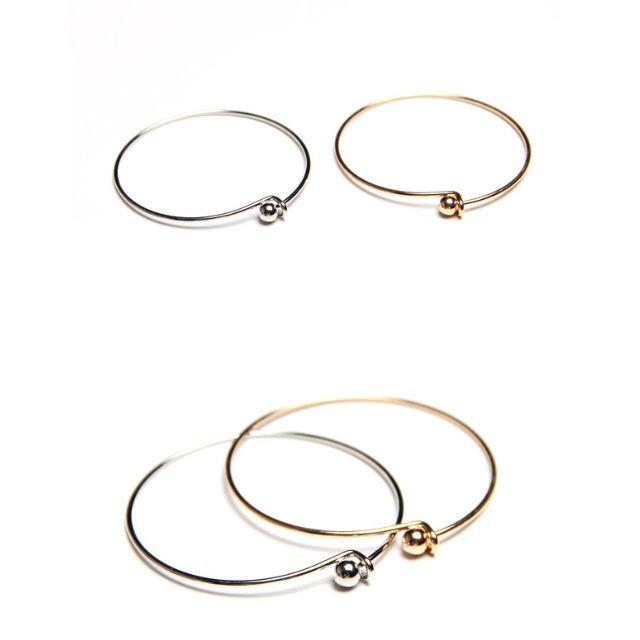 ◆Hasna◆極簡百搭圓珠扣式手環 (金/銀) 二色