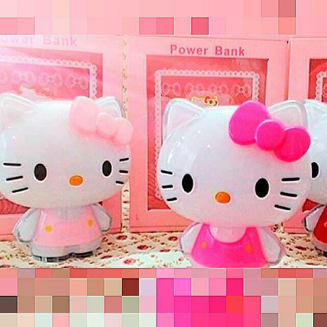 超萌新款Hello Kitty水晶炫光行動電源