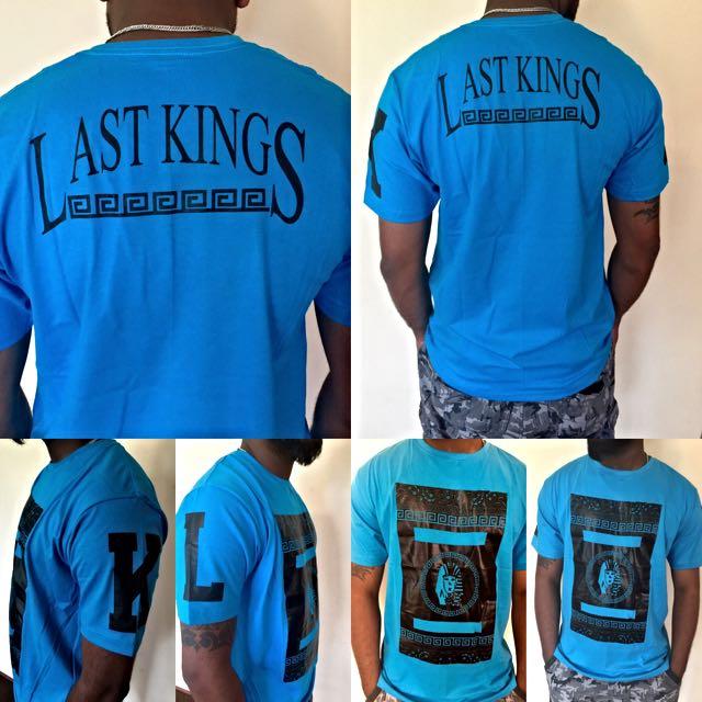 Last Kings Hip Hop T-shirt Blue