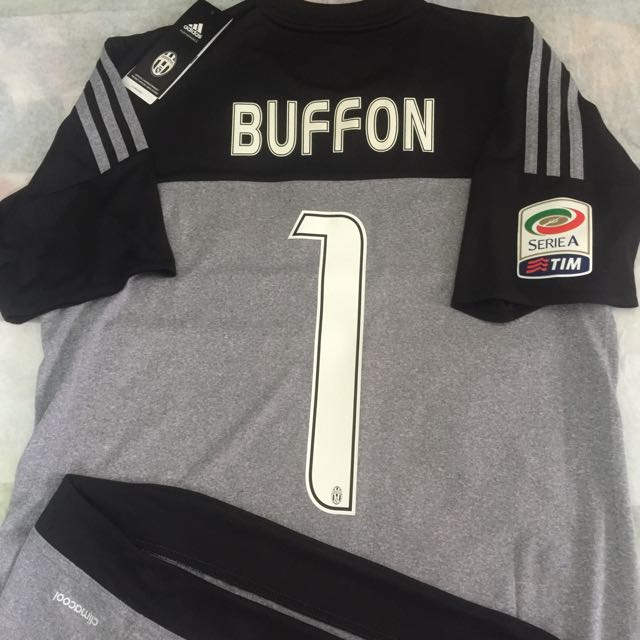 low priced b5c81 e4e96 Official Authentic ADIDAS Juventus 2015-16 Home Goalkeeper ...