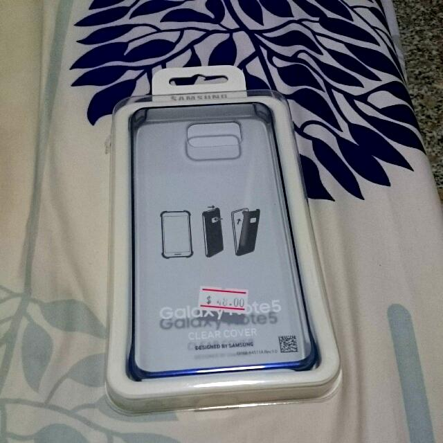 Samsung Note 5 Original Clear Case, Leather Case
