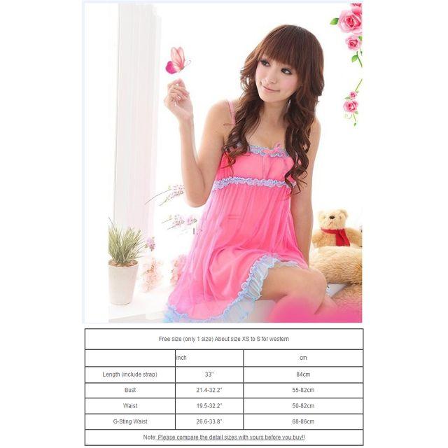 c6f07330ce Sexy Women Lace Lingerie Robes Sleepwear Nightwear +G-string ...