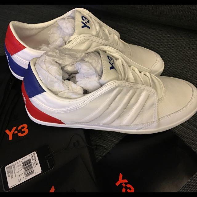 Y-3白色運動鞋黃金尺碼8.5