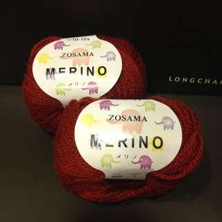 降價 毛線 象印ZOSAMA Merino美麗諾日本製造