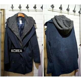 [ 正韓 ] 超質感毛料外套西裝外套長版內鋪棉(僅有一件)