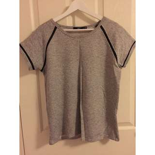 Sportsgirl Top With Faux Leather Detailing