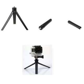 ABS Portable Mini Tripod Stand for Camera DV GoPro Go Pro SJCAM LED Light Handle