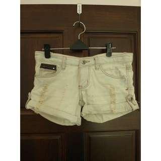 二手 刷白短褲 腰圍40cm