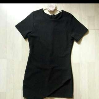 Theaddictstore Black Overlay Shift Dress (Pending)