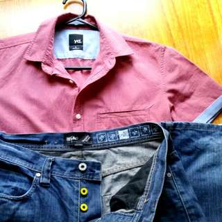MOSSIMO Jeans & YD Shirt