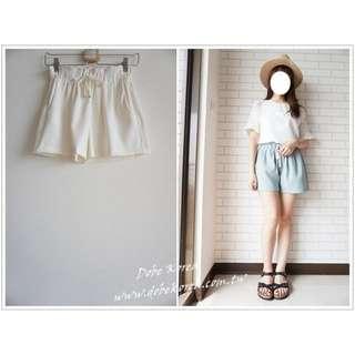 *轉賣*Dobe 韓國連線 腰鬆緊厚雪紡素色短褲 黑 原價970