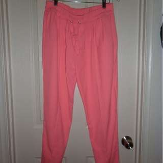 Orbin bright pink lounge pants - size 12, worn once, perfect condition