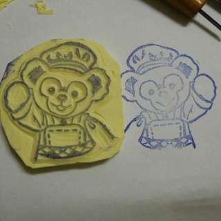 達菲熊糕點師 橡皮擦印章