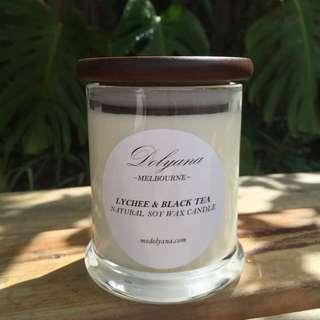 Dolyana Soy Candle - Lychee & Black Tea