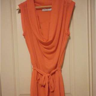 White Closet Orange playsuit with cowl neck - worn once, size 12