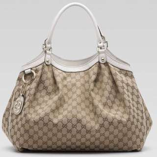 Authentic Gucci Brown Sukey Large Tote