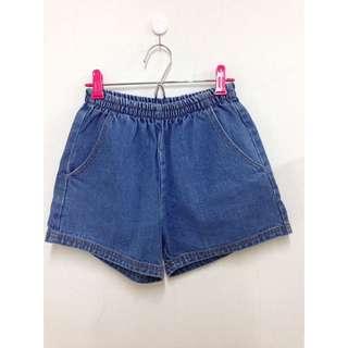 (原價500)復古鬆緊褲頭牛仔褲短褲