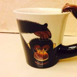 曼谷帶回的立體猴子杯