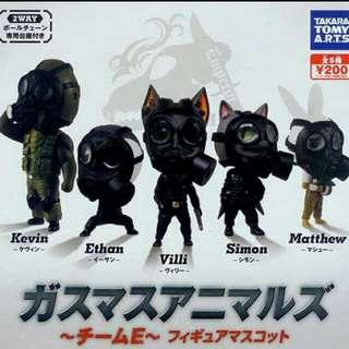 扭蛋系列⭕️帶著防毒面具的動物們、Ethan