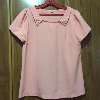 Blush Pink Blouse Top