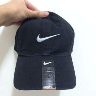 全新正品 Nike Heritage Swoosh Cap 可調式棒球帽 黑白 男女  老帽  復古 鴨舌帽  基本款 預購