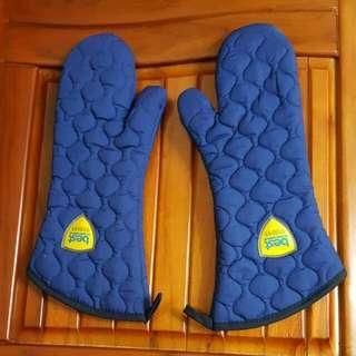 藍色隔熱手套