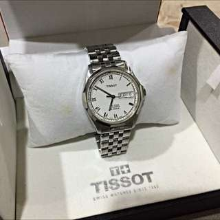 天梭 Tissot Pr100 自動機械錶 男錶 白色羅馬面