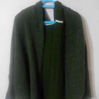 Queen Shop 針織外套(墨綠)