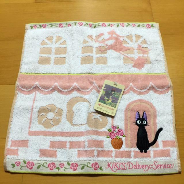 魔女宅即便玫瑰粉色質感柔軟方形毛巾